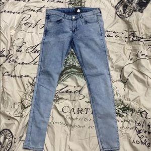 NWT H&M light blue acid wash skinny denim jeans 25